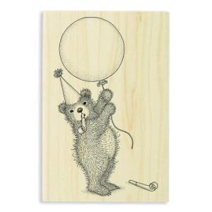 Balloon Bear Rubber Stamp