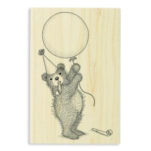 Balloon Bear Rubber Stamp