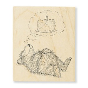 Cake Dreaming Rubber Stamp