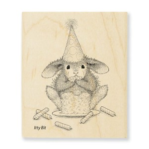 Cake Nibbler Rubber Stamp