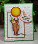Spiral Dot Birthday Bear by Jamie Martin