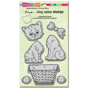 CRS5075 Cling Pop Up Kitties Stamp Set
