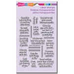 Life Words Perfectly Clear Stamps Set