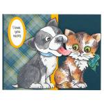 Pop Up Puppies Plaid by Debi Hammons