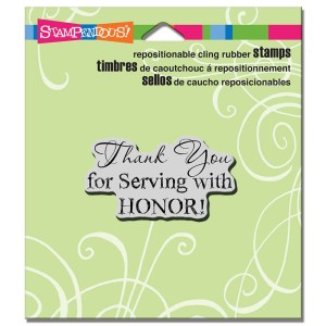 H317 Cling Serving with Honor Stamp