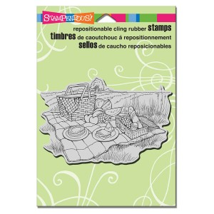 P266 Cling Picnic Spread Stamp
