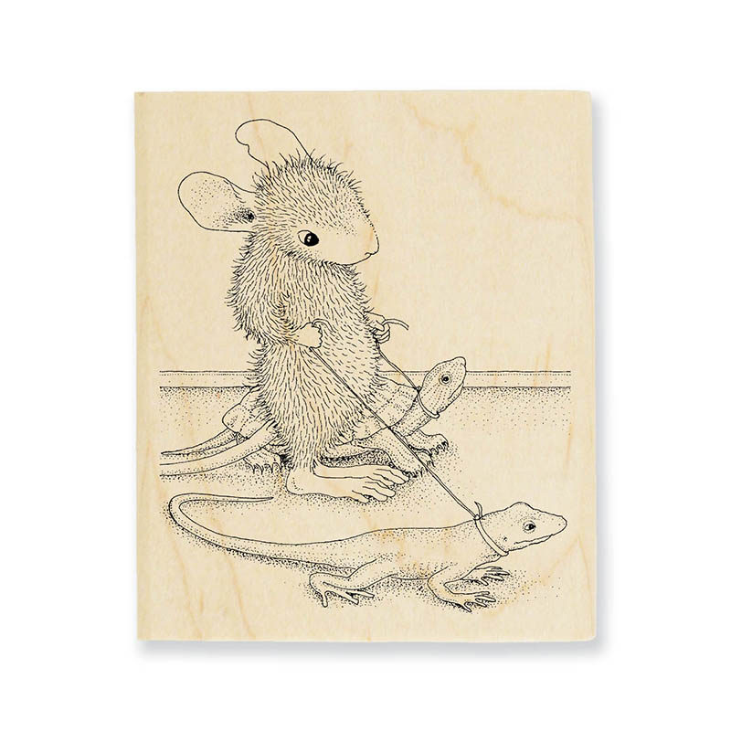 Reptile Walk Rubber Stamp