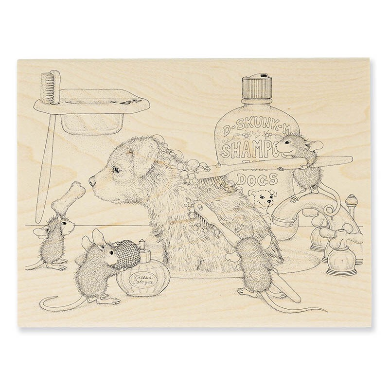 Dog Wash Rubber Stamp