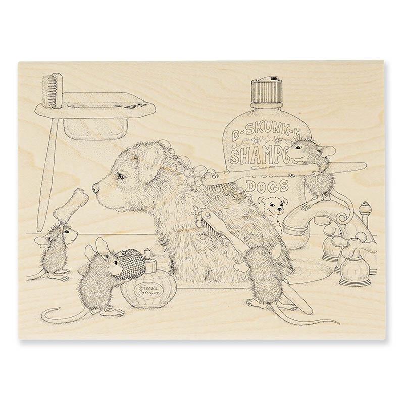 Dog Wash Rubber Stamp