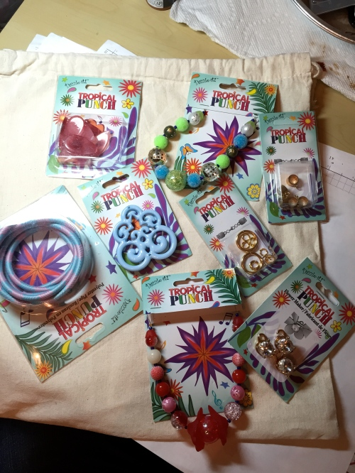 It came with this gorgeous assortment of Tropical Punch jewelry makings.