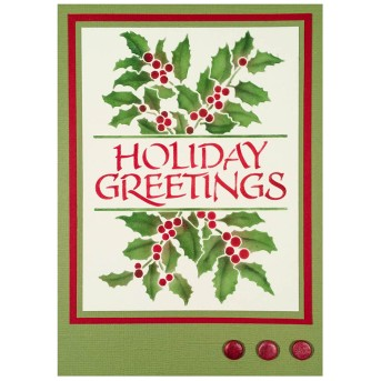 Holiday Greetings Card by Louise Healy