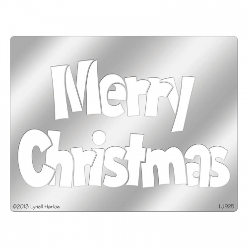 This is a graphic of Dynamic Merry Christmas Stencil Free Printable