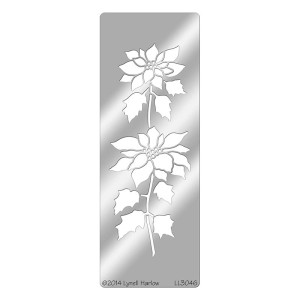 Tall Poinsettia Stencil