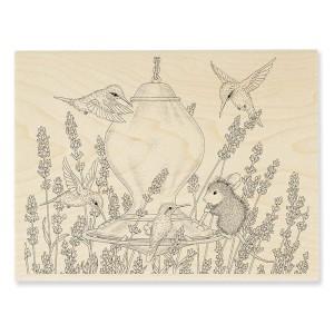 HMR28 Lavender Birdfeeder Stamp