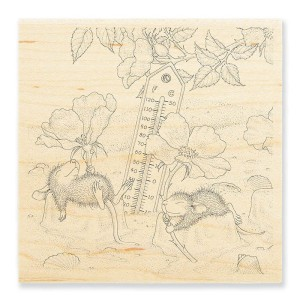 HMW02 Staying Cool Rubber Stamp