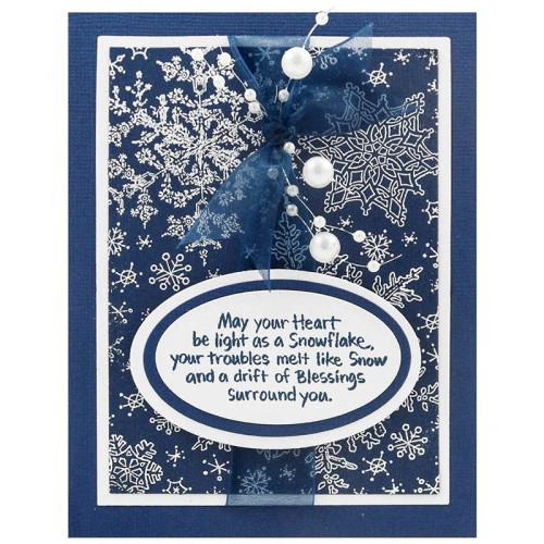 Kristine Reynolds rocks a Mulit-Bead String on this Snowflake Sky Card!