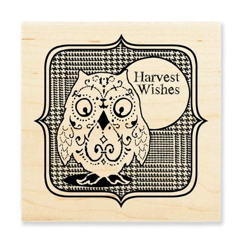 W156 Harvest Owl Stamp