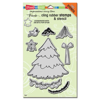 CRS5080 Cling Create Christmas Stamps Set