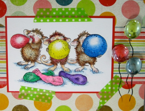 Balloon Trio by Marie Browning