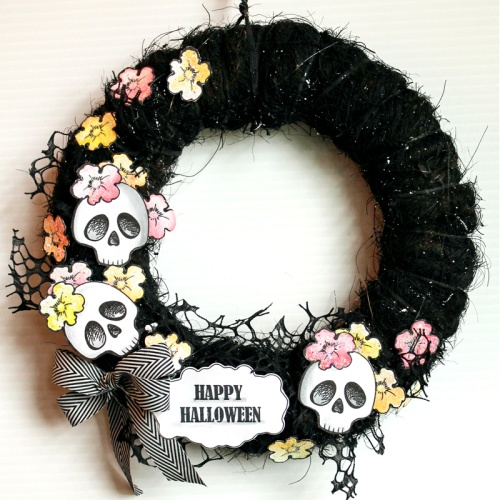 Skull Ghoul Wreath by Wendy Price