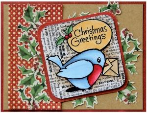 Robin Greetings by Jennie Lin Black