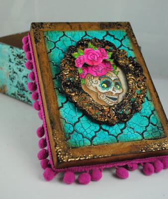 Skull Roses Box by Pam Hornschu