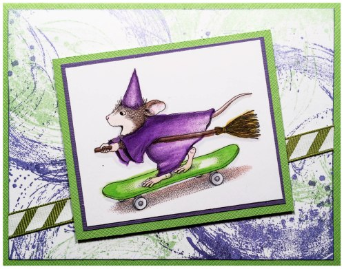 Skateboard Witch by Louise Healy