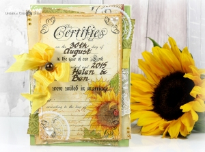 Stampendous Sunflower Ladybug wedding card by Asia King