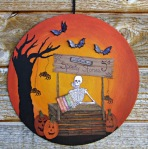 Skeleton Style Plaque by Donna Budzynski
