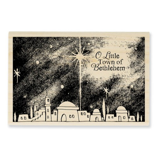 P268 Bethlehem Night Wood Stamp