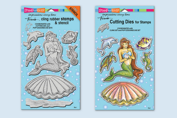 CRS5088 Mermaids Cling Stamp Set and DCS5088 Mermaids Die Set