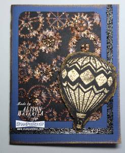 Hot Air Balloon card by Alison Heikkila