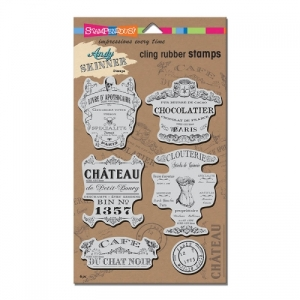 ASCRS05 AS Cling Shabby Chic Rubber Stamp Set