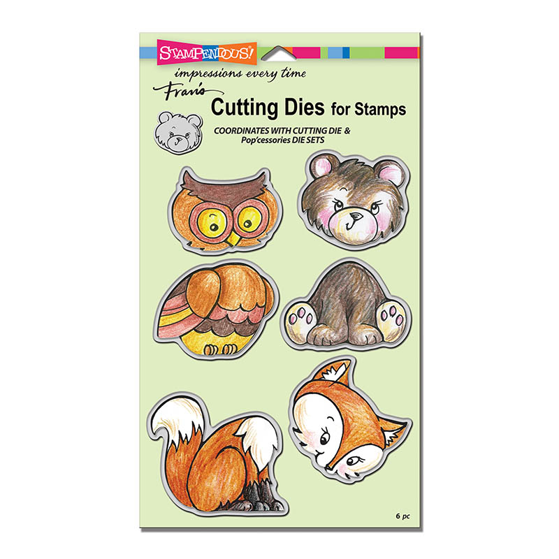 Jungle Friends CRS5086 Stampendous Cling Stamps /& Stencil Set