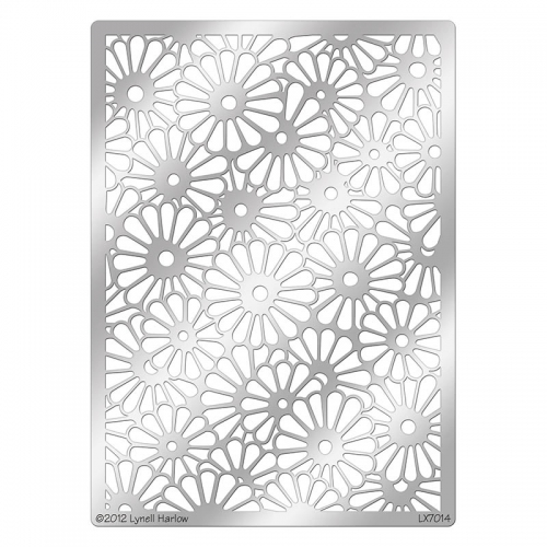 DWLX7014 Daisy Background Stencil