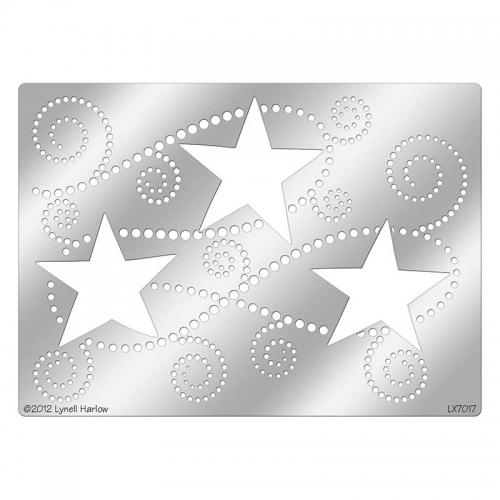 DWLX7017 Three Stars Stencil
