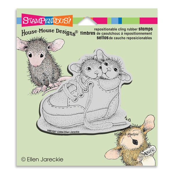 HMCQ07 Shoe Babies Rubber Stamp
