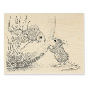 HMR58 Fishy Kiss Rubber Stamp