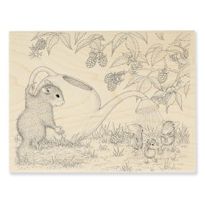 HMR68 Squirrel Showers Rubber Stamp
