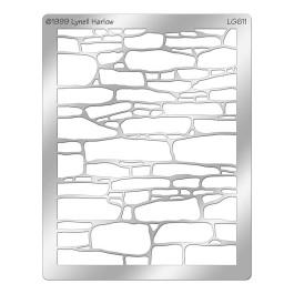 DWLG611 Stone Wall Stencil