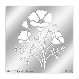DWLL521 CA Poppies Stencil