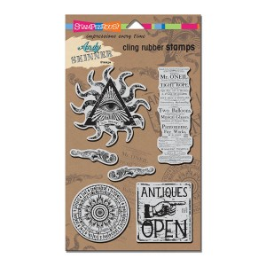 ASCRS04 AS Cling Curiosity Rubber Stamp Set