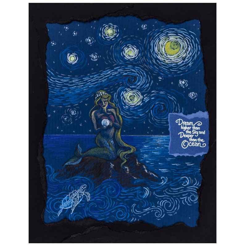 Mermaid Friends and Starry Night