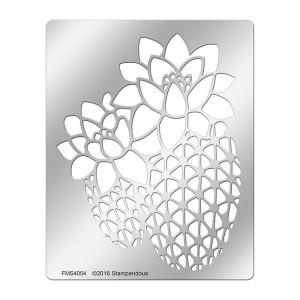 FMS4054 Cactus Flower Metal Stencil