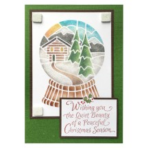 Snowglobe Chalet by Louise Healy