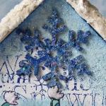Birdie Trio Birdhouse by Katy Leitch - Snowflake detail