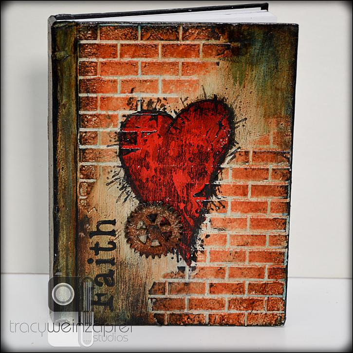Faith Journal by Tracy Weinzapfel for DecoArt Mixed Media Blog