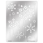 FMS4042 Snowflake Cascade Metal Stencil