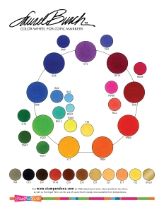 Laurel Burch Coloring Chart - colored with Copic Markers