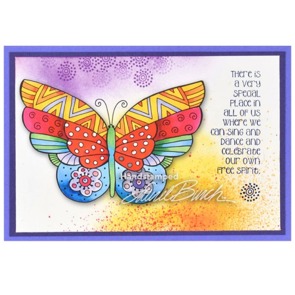 Laurel Burch Flutterbye Stamp